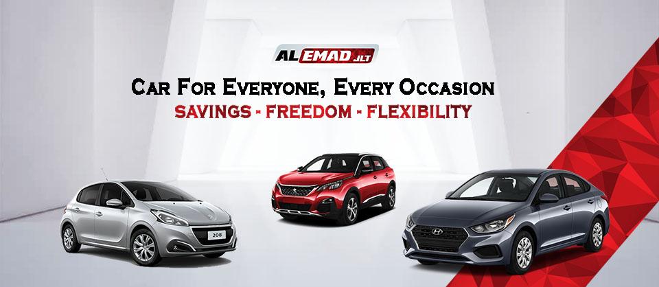 Banner Alemad Rent a Car Dubai